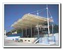 中学体育场主席台膜结构雨棚