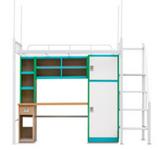 中山上下铁架双层床厂家的学生宿舍钢制公寓床是这样的