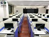 升降屏风电动升降电脑考试桌 英语听说机考电脑桌