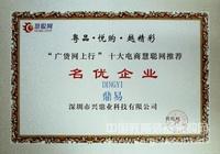 名优企业证书