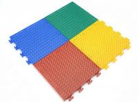 白色减震圆环软脚弹垫悬浮式拼装地板 双层软质弹力垫塑胶拼装运动地板