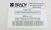 贝迪超强粘胶标签B-483