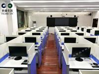 电动屏风升降电脑桌 英语听说机考电脑桌