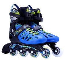 【美洲狮COUGAR】MZS308N 溜冰鞋成人轮滑鞋青少年可调码男女直排滑冰旱冰鞋 欧盟品质 黑蓝