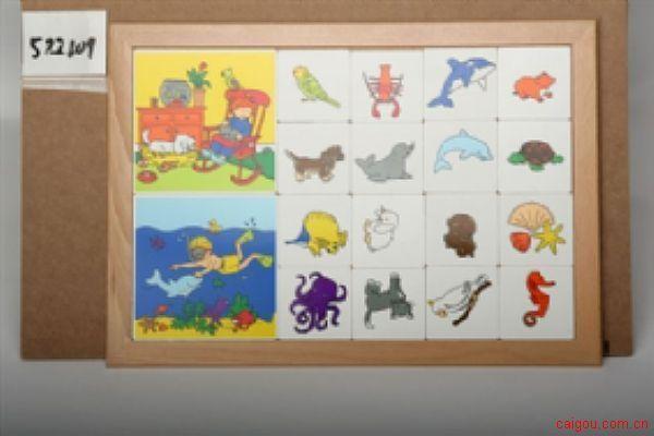 卡片分类游戏动物系列-宠物与海洋动物