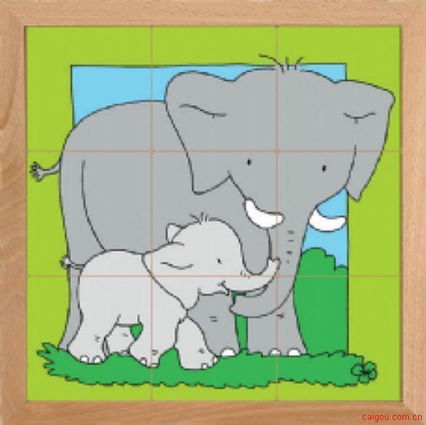 动物母子亲情系列-大象