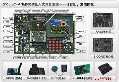 """凌阳ARM9+S+core""""双核""""嵌入式实验箱"""