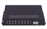 8路电话光端机 单纤FC接口 单多模通用 可添加1路百兆网口 桌面台式