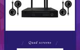 Quickshare快立享工程款无线投屏增强版 互动式无线投影网关 交互式无线一键投影电脑平板苹果 安卓手机投屏