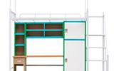 中山上下鐵架雙層床廠家的學生宿舍鋼制公寓床是這樣的