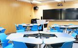天智廠家直銷學校錄播教室課桌椅  梯形課組合課桌椅