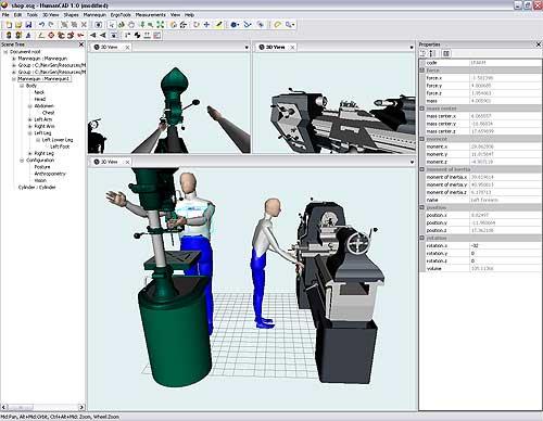 HumanCAD三维人体建模(3D人因动作模拟)